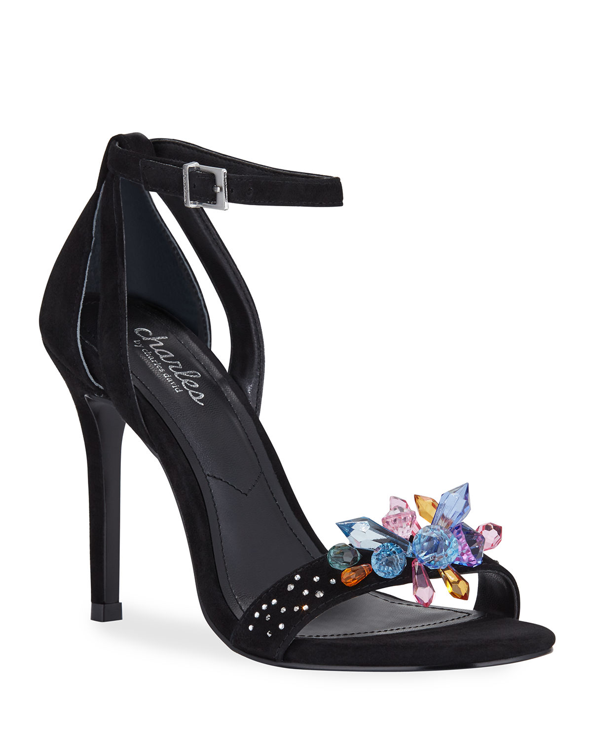 Charles By Charles David Sandals RAINEY JEWELED SUEDE ANKLE-STRAP SANDALS