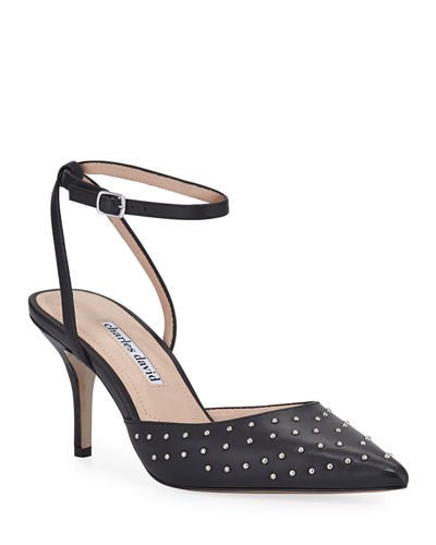 Azalea Studded Leather Pumps