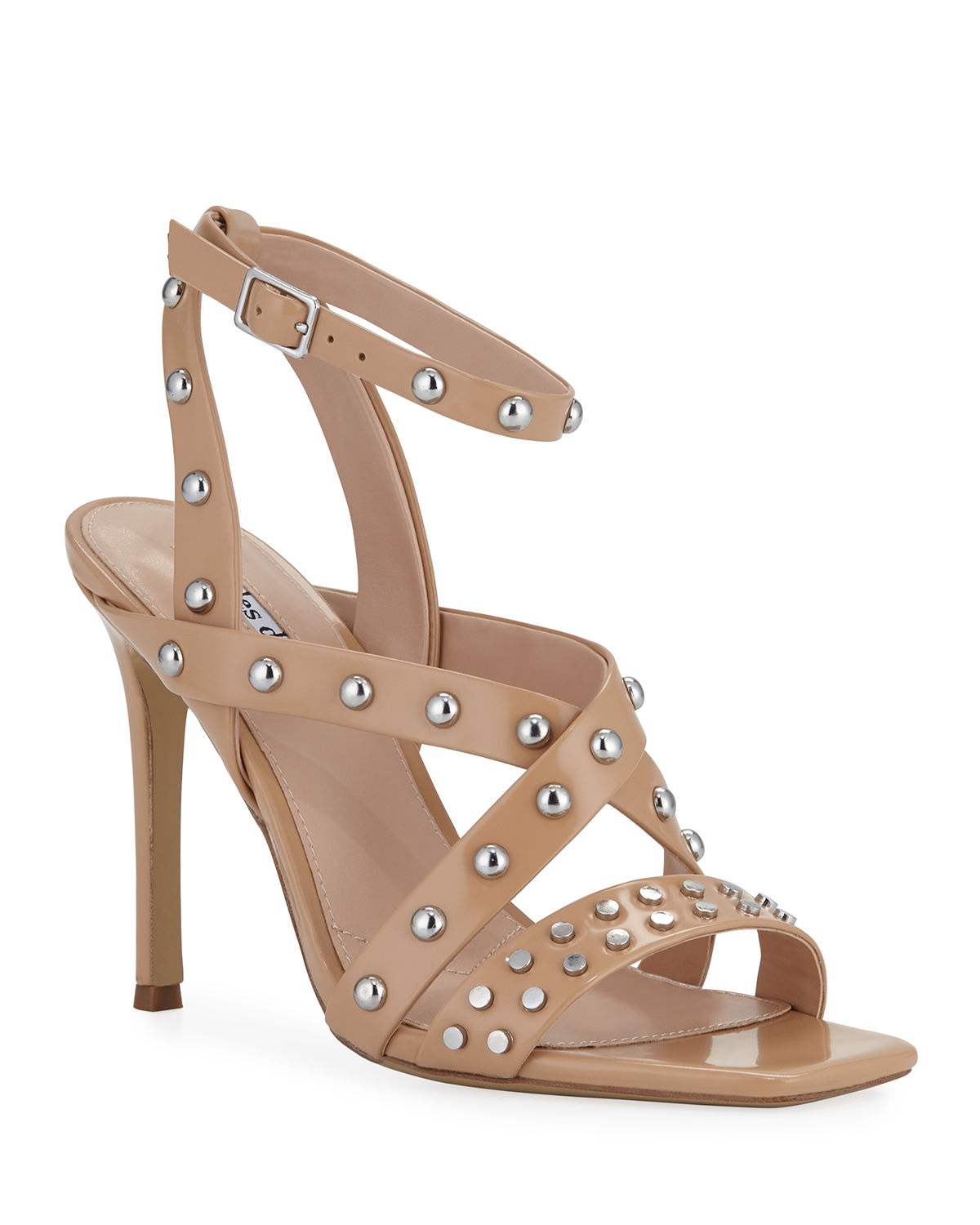 Charles David Sandals VELOCITY STRAPPY STUDDED LEATHER SANDALS