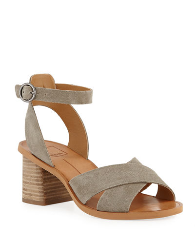 Ray Suede Ankle-Strap Sandals