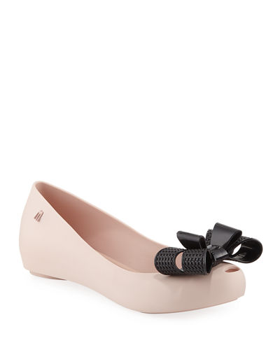 Melissa Shoes Ultragirl Sweet PVC Bow Flats