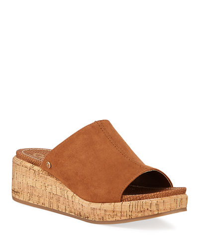 Sylvia Suede Wedge Faux Sandals Suede Faux Sylvia Wedge Sandals XkiOZuP