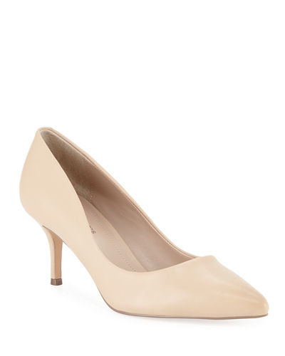 Andre Pointed-Toe Leather Pumps
