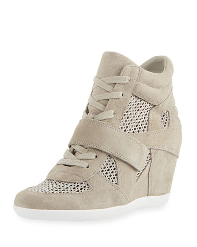 Bowie Mixed Mesh Wedge Sneakers