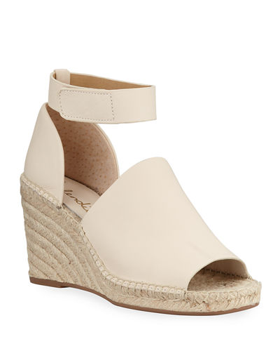 Skylar Leather Ankle-Strap Espadrilles