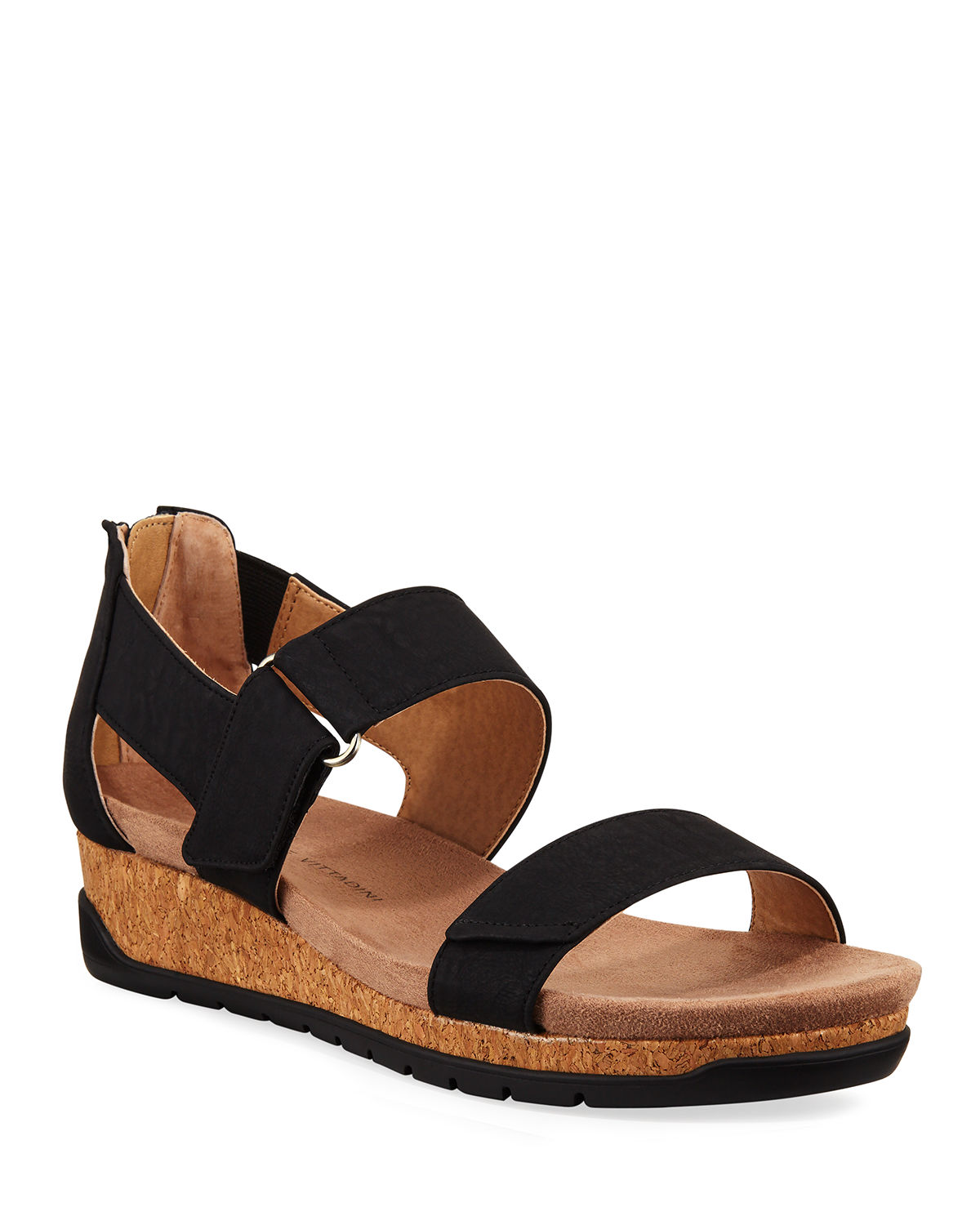 Adrienne Vittadini TAYTUM CORK DEMI-WEDGE SANDALS