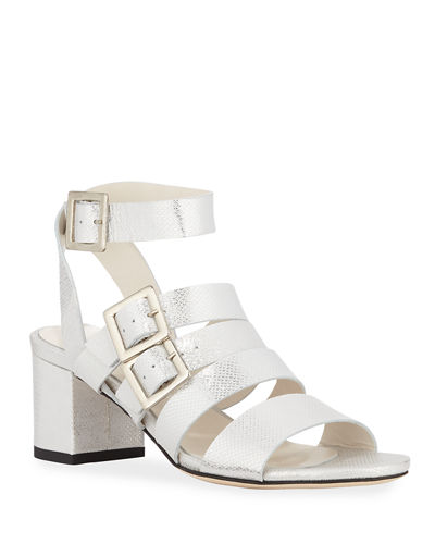 Wrap Metallic Buckle Ankle Tingle Sandals BQedoErWCx