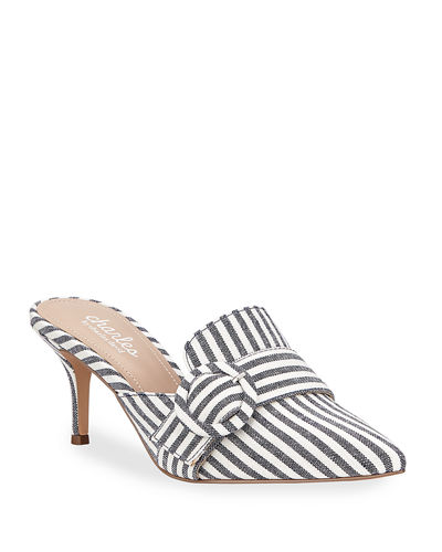 Acapulco Pointed-Toe Buckle Mules