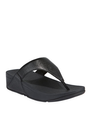 Lulu Superglitz Metallic Thong Sandals by Fitflop