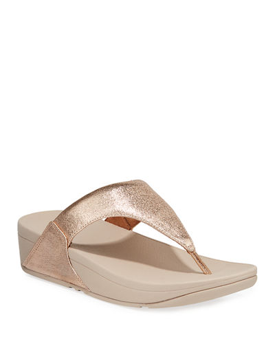 Lulu Superglitz Metallic Thong Sandals