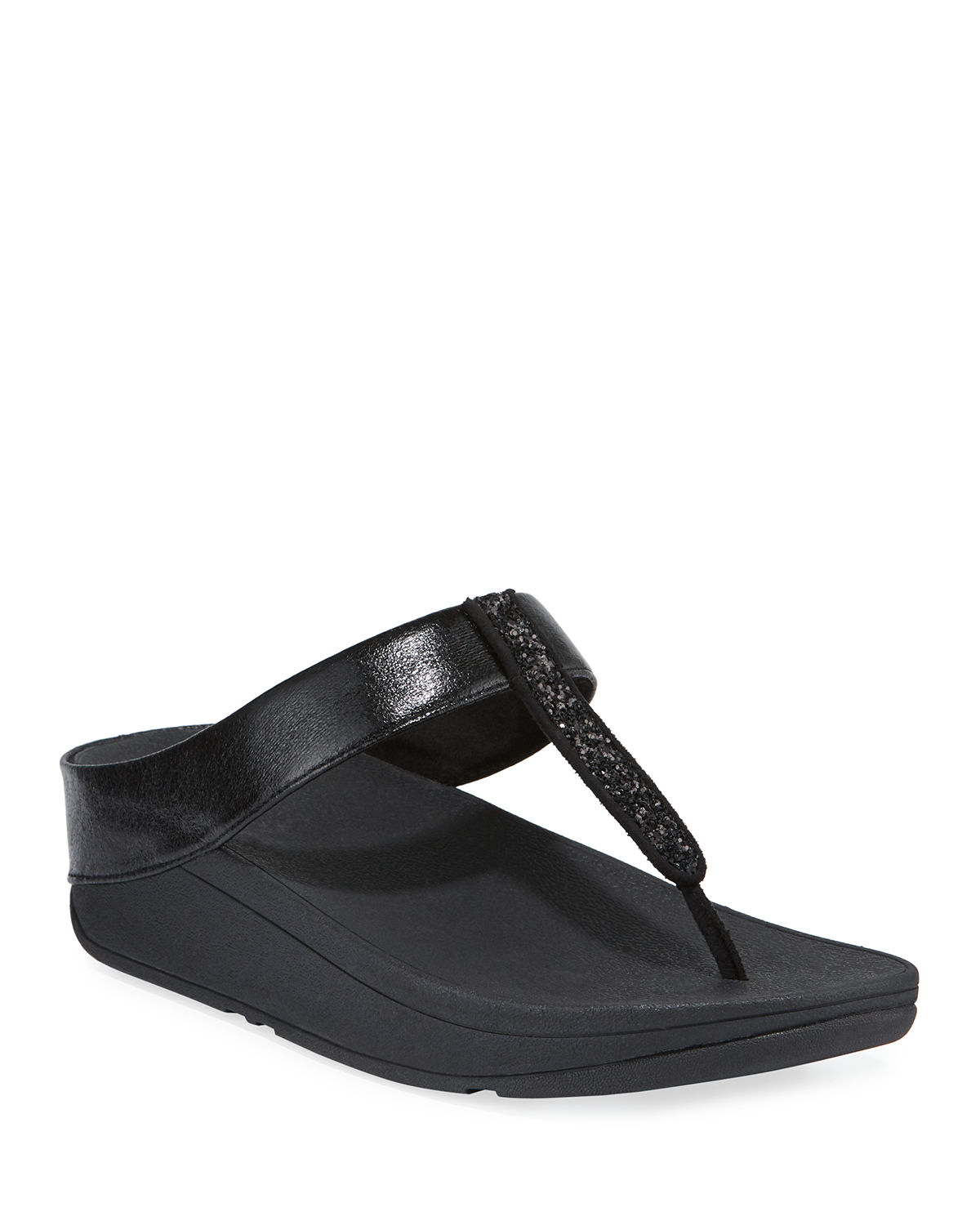 Fitflop FINO GLITTERED METALLIC THONG SANDALS