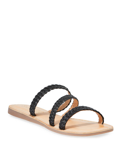 Thora Braided Leather Flat Sandals