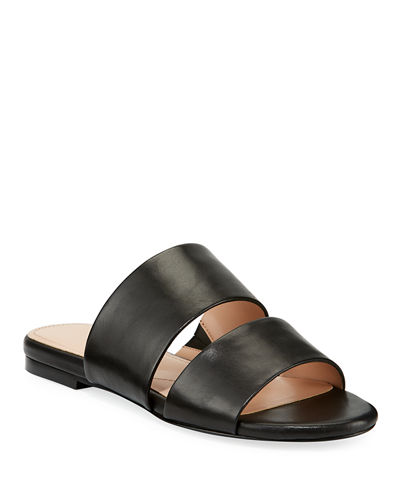Siamese Double-Strap Leather Mule