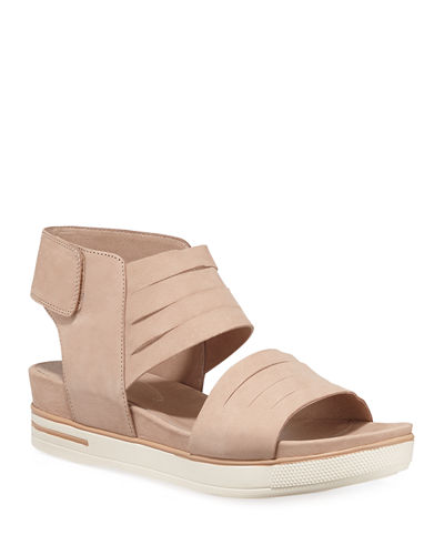 Slice Low-Platform Nubuck Sandals