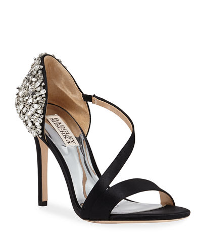 Pauline Crystal Satin Cocktail Sandals