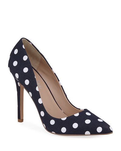 Palma Polka-Dot High-Heel Pumps