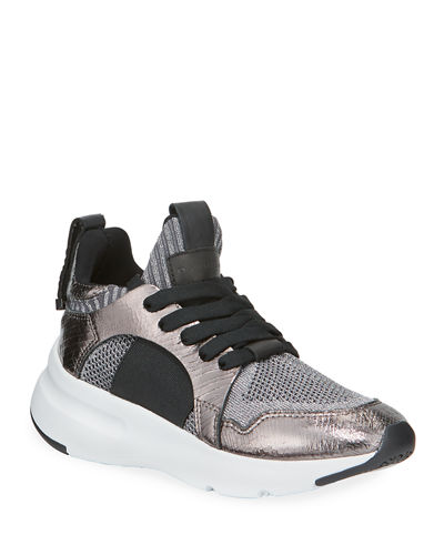 Beilz Metallic Stretch Knit Mesh Sneakers