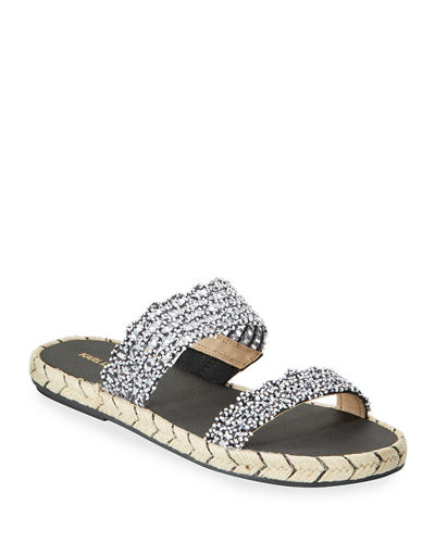 Nita Beaded Espadrille Slide Sandals