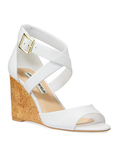 Radka Leather Wedge Sandals