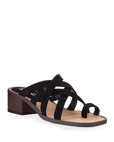 Stevie Crisscross Suede Sandals