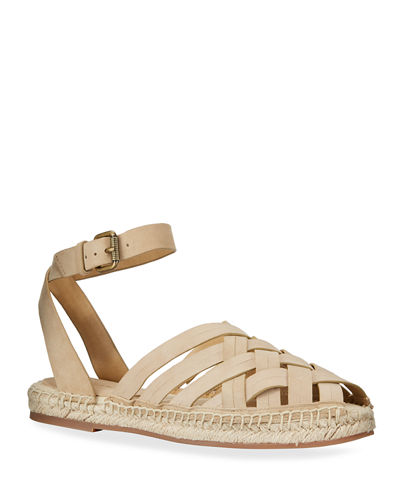Sheryl Woven Suede Espadrille Sandals