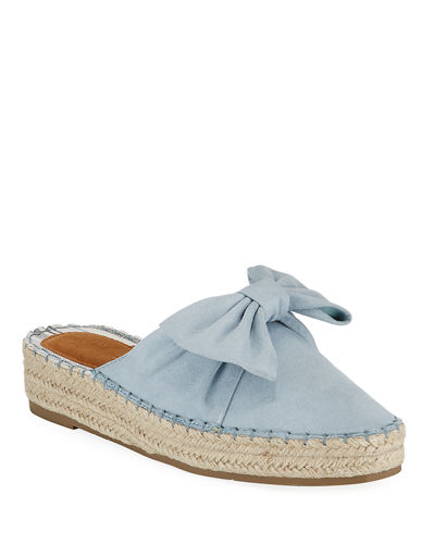 Melodie Suede Bow Slide Espadrilles