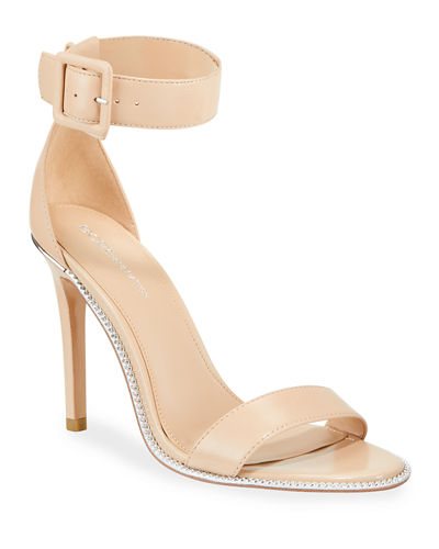 Janet Leather Buckle Cocktail Sandals