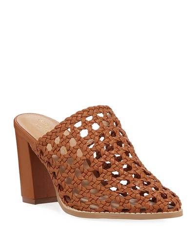 Liat Woven Leather Mules