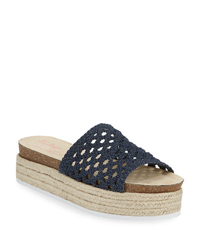 Monique Woven Slide Espadrilles