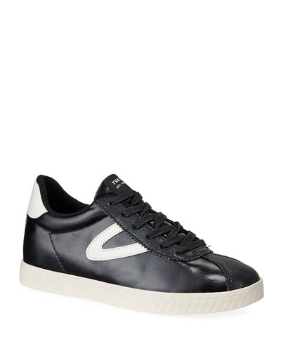 Callie Two-Tone Leather Low-Top Sneakers