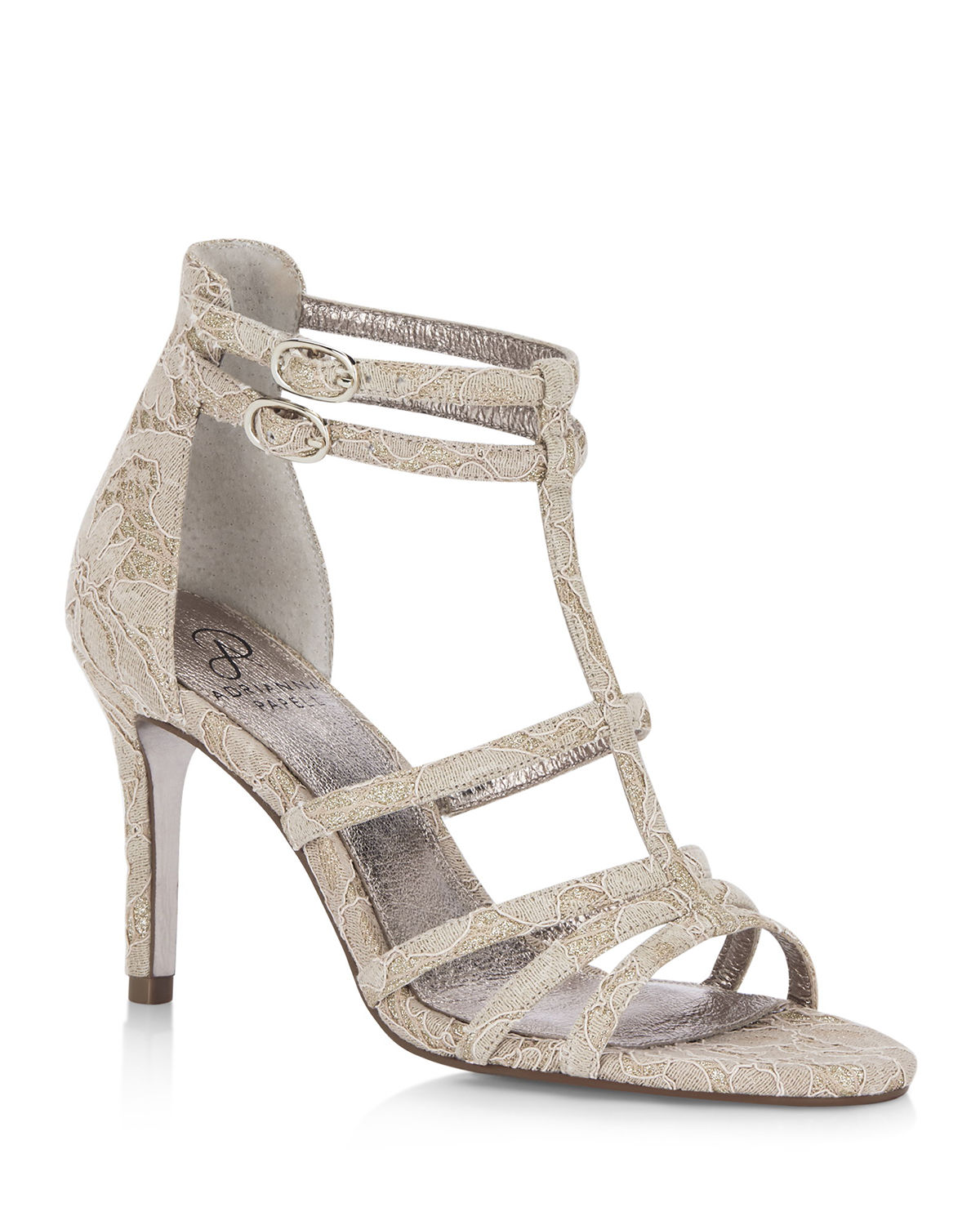 Adrianna Papell Sandals ADARA LACE T-STRAP EVENING SANDALS