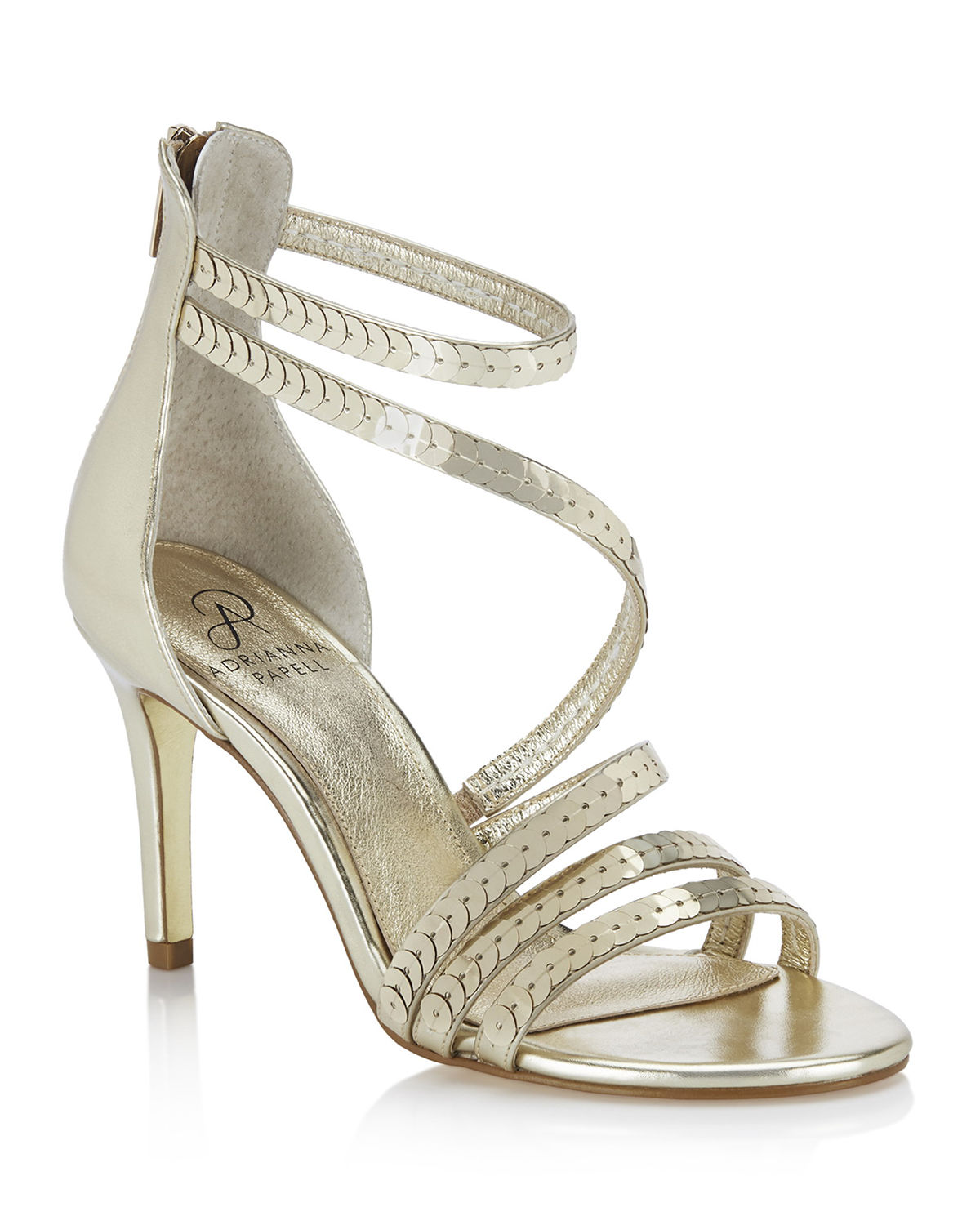Adrianna Papell Sandals ALEXI SEQUIN COCKTAIL STRAPPY SANDALS