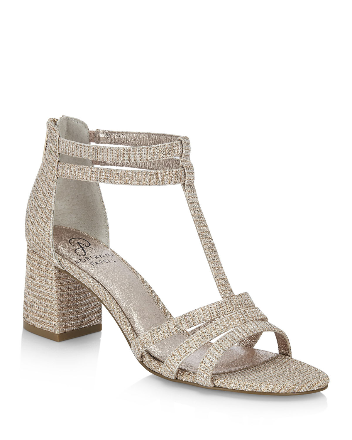 Adrianna Papell Sandals ANELLA SHIMMERY T-STRAP EVENING SANDALS