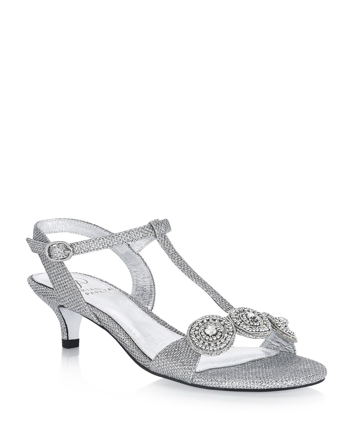 Adrianna Papell Sandals TACY METALLIC BEADED T-STRAP EVENING SANDALS
