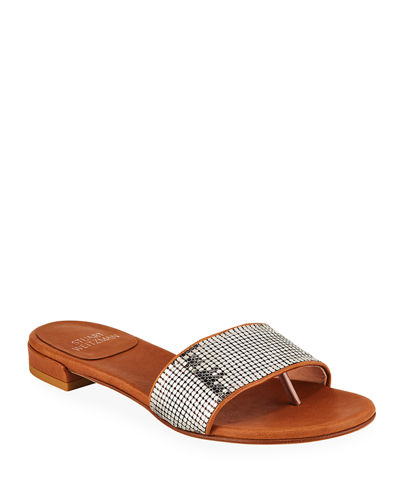 Mailroom Studded Leather Slide Sandals