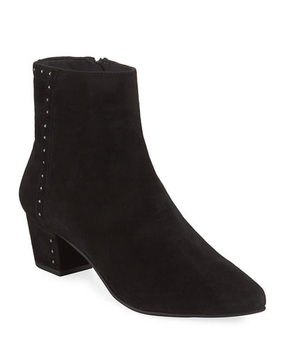 Wakeup Studded Suede Booties
