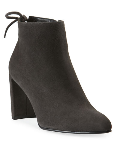 Lofty Suede Pointed-Toe Booties