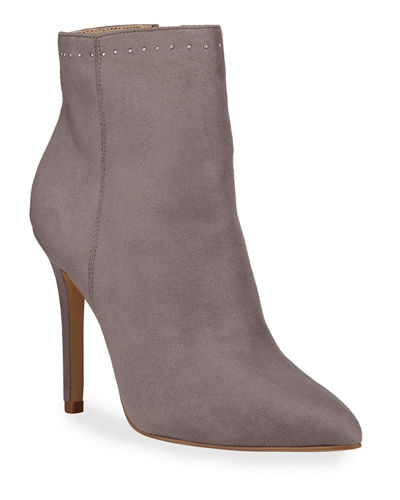Detective Microsuede Stiletto Booties