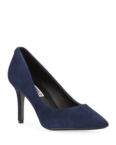 Royale Suede Pointed-Toe Pumps
