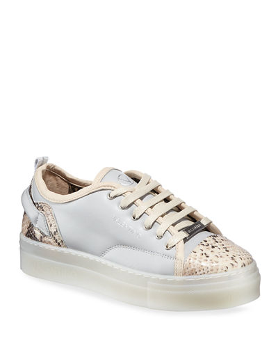 Dalia Snake-Print Low-Top Sneakers