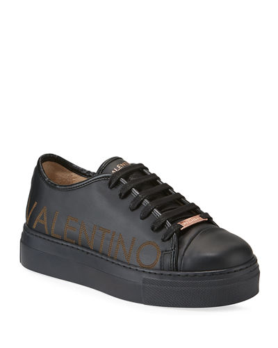Dalia Leather Logo Platform Sneakers