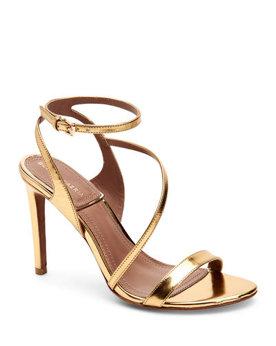 Amilia Metallic Leather Strappy Sandals