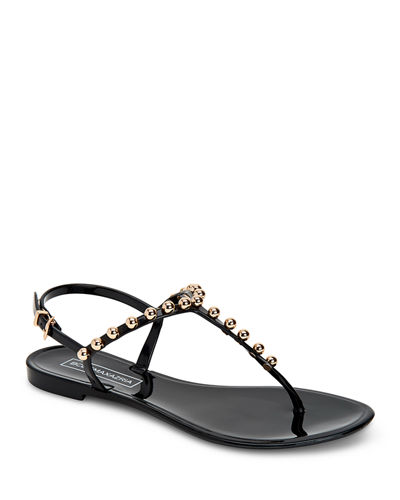 Jellia Beaded Jelly Thong Sandals