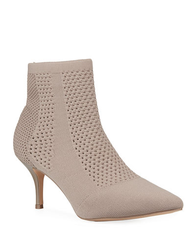 Alter Stretch Knit Perforated Ankle Booties