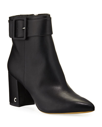 Hardee Buckled Block-Heel Booties