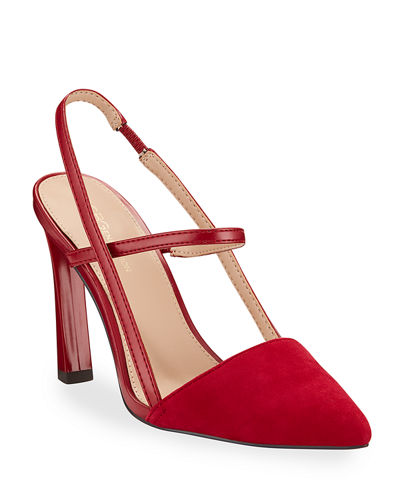 Kathleen Slingback Pointed-Toe Pumps