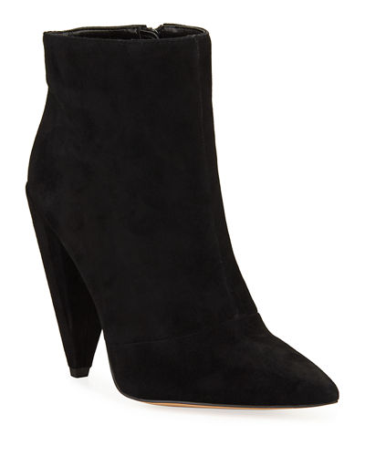 Jayden Suede Tapered-Heel Booties