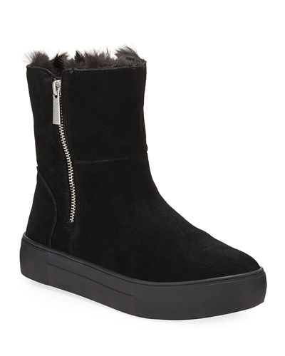 Alisa High-Top Faux-Fur Bootie Sneakers