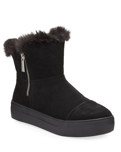 Alistar High-Top Faux-Fur Bootie Sneakers