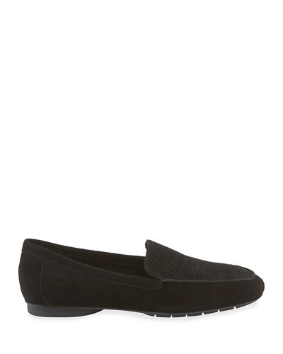 Donitaks Perforated Suede Slip-On Loafers